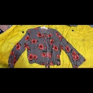 Button Down Flower Shirt
